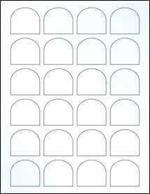 "Sheet of 1.65"" x 1.5"" Clear Gloss Inkjet labels"