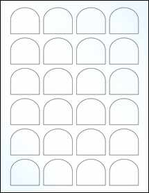 """Sheet of 1.65"""" x 1.5"""" Clear Gloss Laser labels"""
