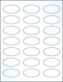 "Sheet of 2.25"" x 1.125"" Oval Clear Gloss Inkjet labels"