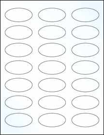 """Sheet of 2.25"""" x 1.125"""" Oval Clear Gloss Laser labels"""