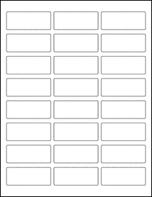 """Sheet of 2.5"""" x 1"""" Removable White Matte labels"""
