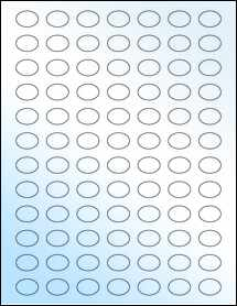 """Sheet of 0.8025"""" x 0.5825"""" White Gloss Laser labels"""