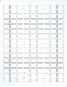 "Sheet of 0.75"" x 0.5"" Clear Gloss Inkjet labels"