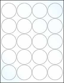 "Sheet of 2"" Circle Clear Gloss Inkjet labels"