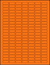 "Sheet of 1"" x 0.375"" Fluorescent Orange labels"