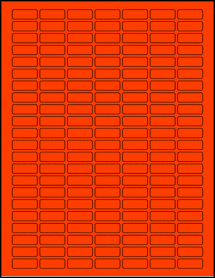 """Sheet of 1"""" x 0.375"""" Fluorescent Red labels"""