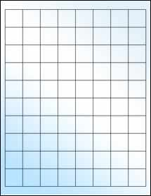 """Sheet of 1"""" x 1"""" White Gloss Laser labels"""