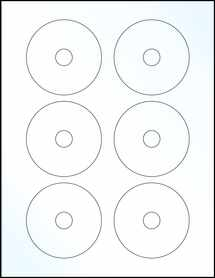 """Sheet of 3"""" Mini CD Clear Gloss Laser labels"""