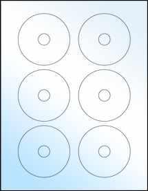 """Sheet of 3"""" Mini CD White Gloss Laser labels"""