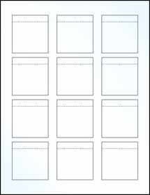 """Sheet of 2.0625"""" x 2.15"""" Clear Gloss Laser labels"""