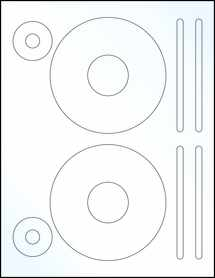 """Sheet of 4.62"""" CD Clear Gloss Laser labels"""