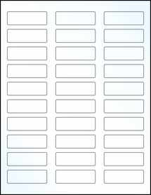 """Sheet of 2.25"""" x 0.75"""" Clear Gloss Laser labels"""
