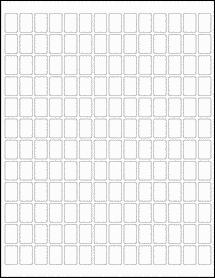 "Sheet of 0.5"" x 0.75"" Standard White Matte labels"
