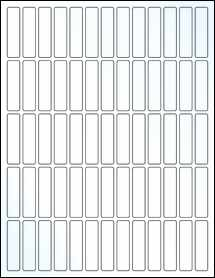 "Sheet of 0.5"" x 2"" Clear Gloss Inkjet labels"