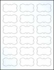 "Sheet of 2.2441"" x 1.2992"" Clear Gloss Inkjet labels"