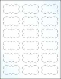 """Sheet of 2.2441"""" x 1.2992"""" Clear Gloss Laser labels"""