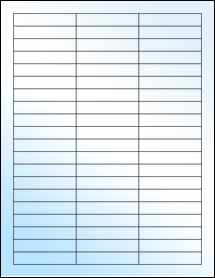 """Sheet of 2.5"""" x 0.5"""" White Gloss Laser labels"""
