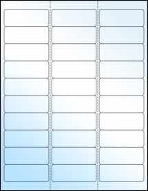 """Sheet of 2.625"""" x 1"""" White Gloss Laser labels"""