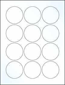 "Sheet of 2.25"" Circle Clear Gloss Inkjet labels"