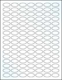 """Sheet of 1"""" x 0.5"""" Small Oval Clear Gloss Laser labels"""