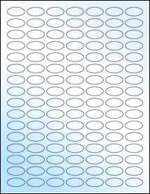 """Sheet of 1"""" x 0.5"""" Small Oval White Gloss Laser labels"""
