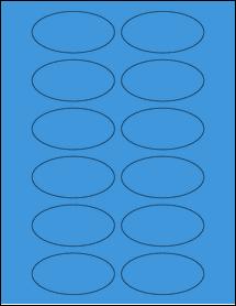"""Sheet of 3"""" x 1.5"""" Oval True Blue labels"""