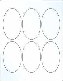 "Sheet of 2.5"" x 4.25"" Oval Clear Gloss Inkjet labels"