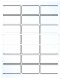 "Sheet of 2.5"" x 1.25"" Clear Gloss Inkjet labels"