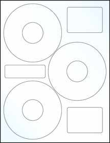 "Sheet of 4.52"" CD Clear Gloss Inkjet labels"
