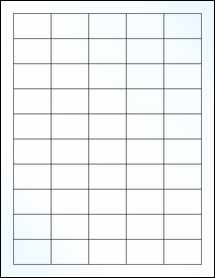"Sheet of 1.5"" x 1"" Clear Gloss Inkjet labels"