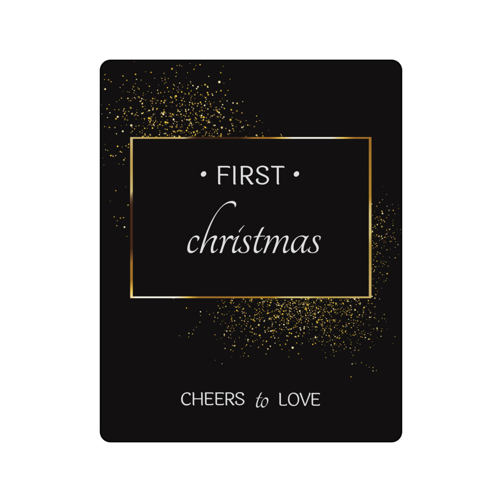 Black and assorted colors marriage firsts wine bottle labels for first valentines, christmas, anniversary, and big purchase
