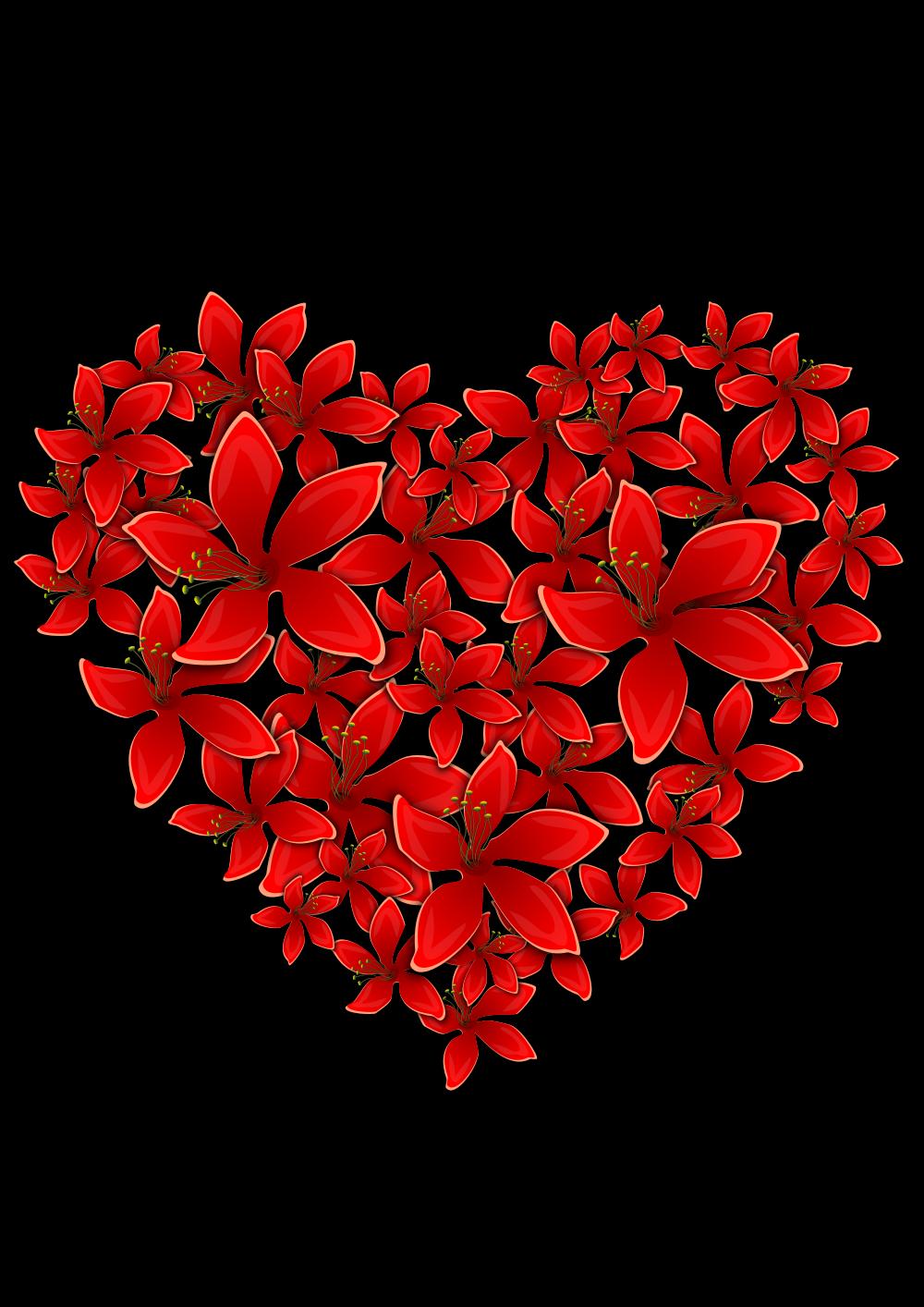 OnlineLabels Clip Art - Flowery Heart