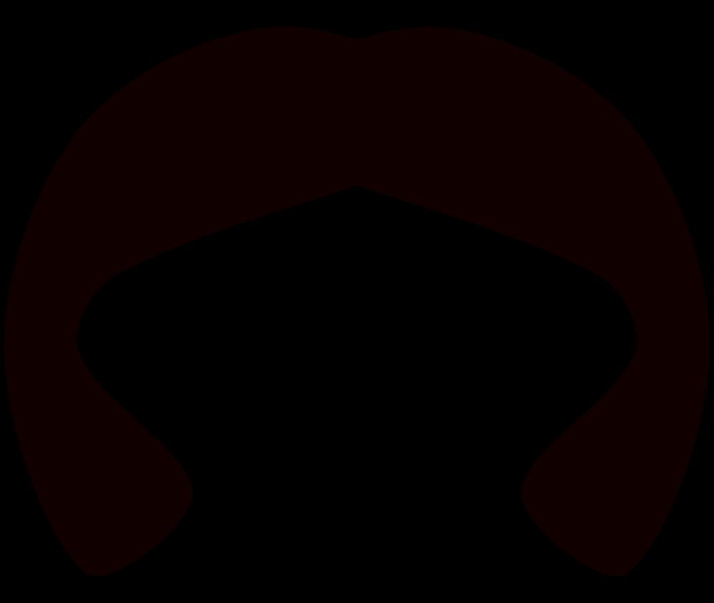 OnlineLabels Clip Art - Black Wig 2