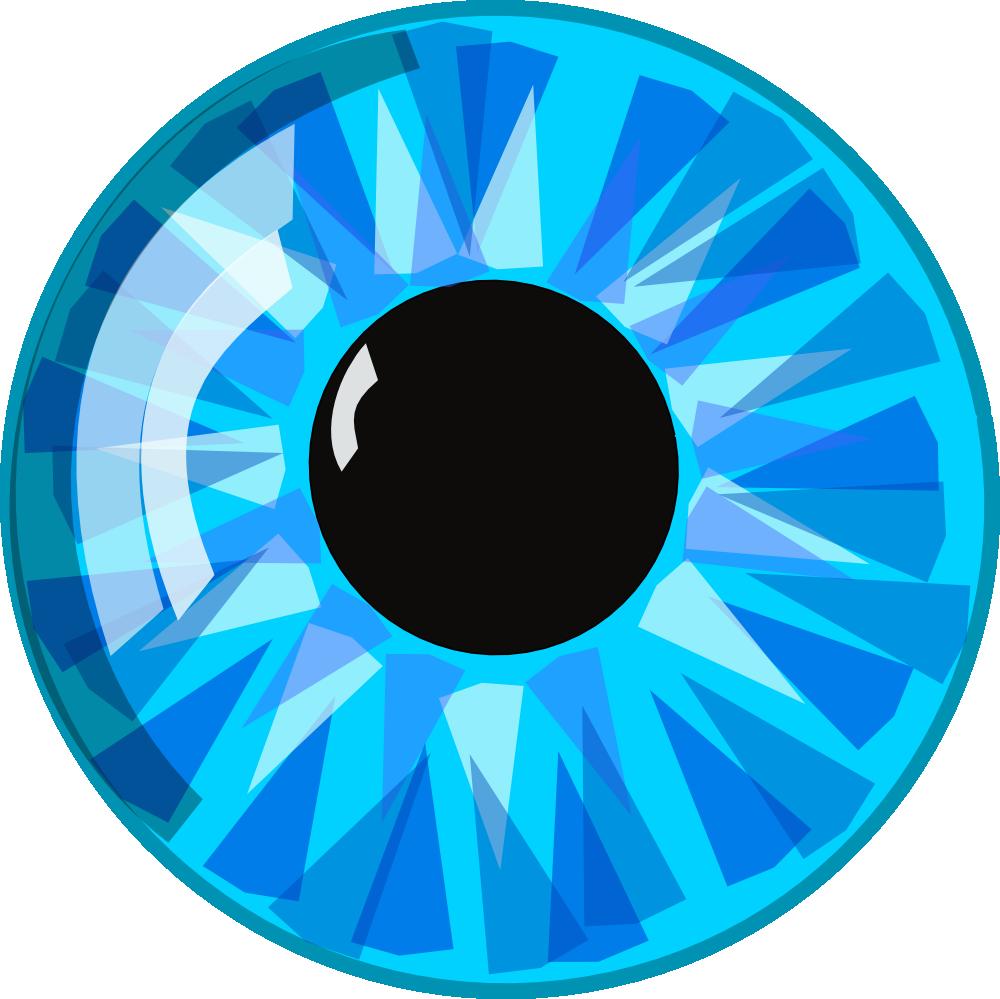 OnlineLabels Clip Art - Blue Eye