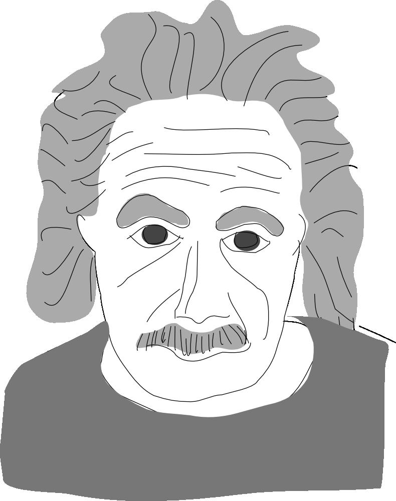 OnlineLabels Clip Art - Einstein