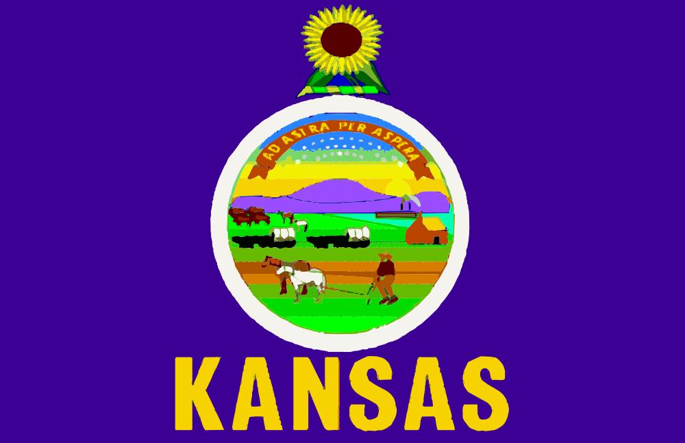 OnlineLabels Clip Art - Flag Of Kansas