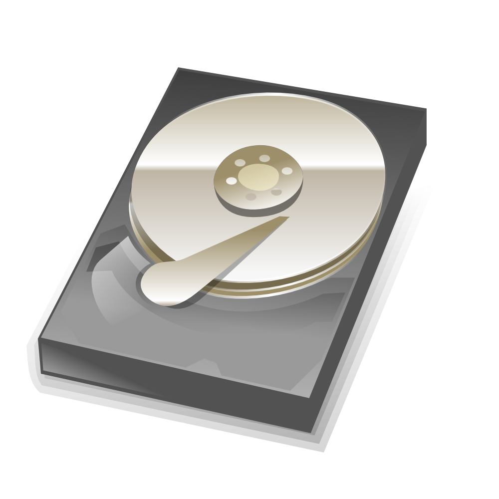 OnlineLabels Clip Art - Hard Disk