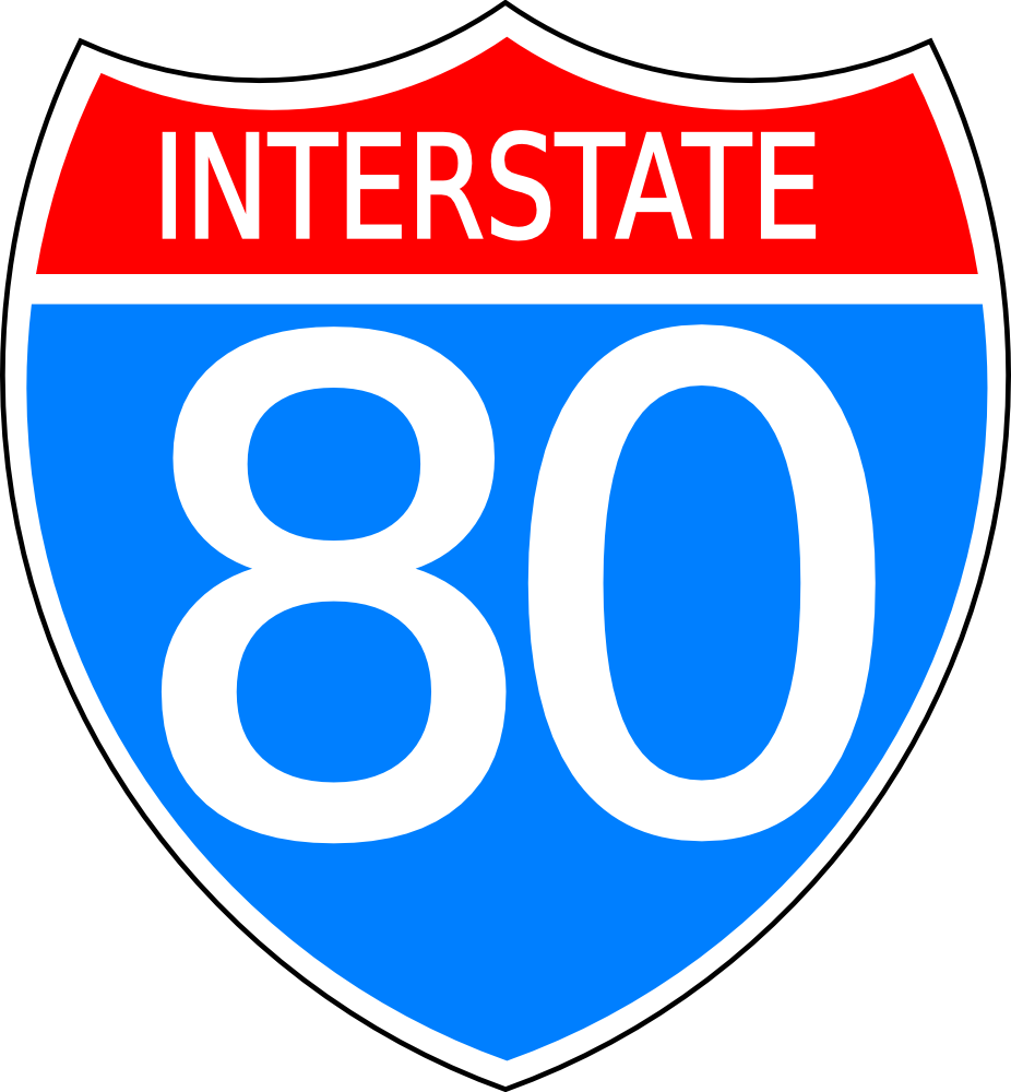 OnlineLabels Clip Art - Interstate Highway Sign