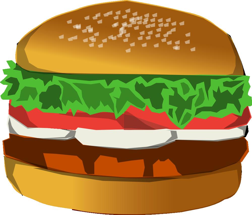 Onlinelabels clip art burger for Hamburger clipart