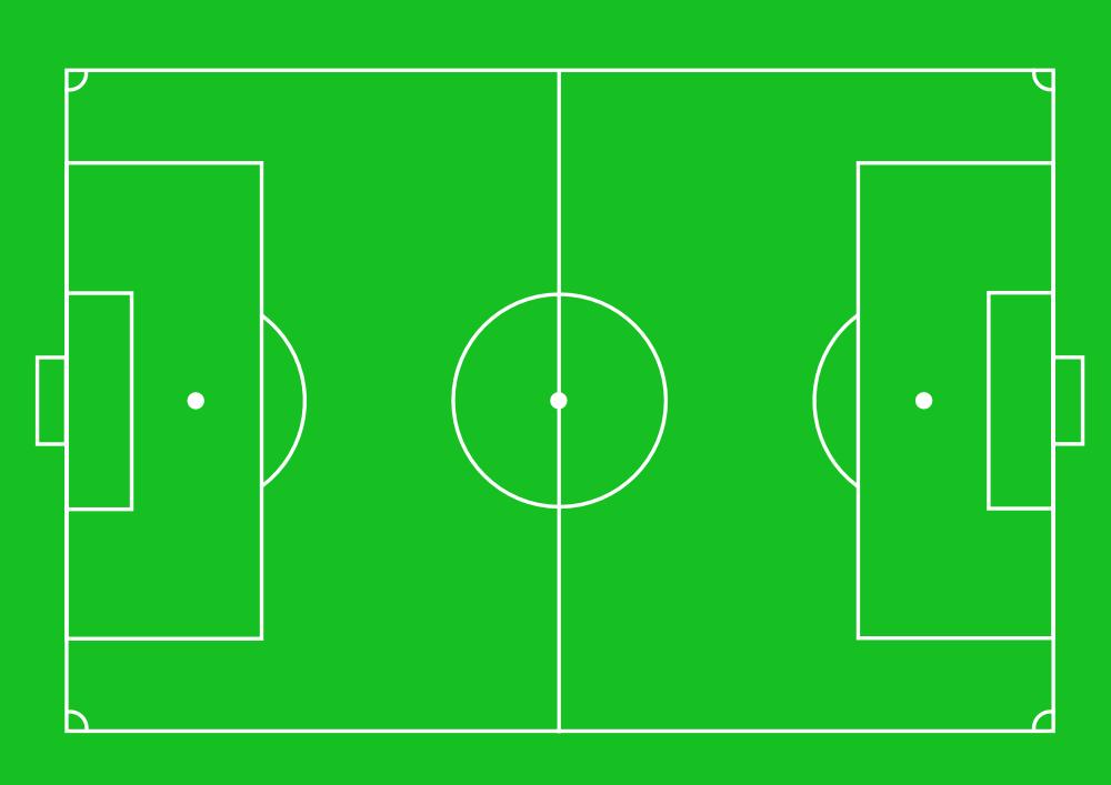 OnlineLabels Clip Art - Football Pitch