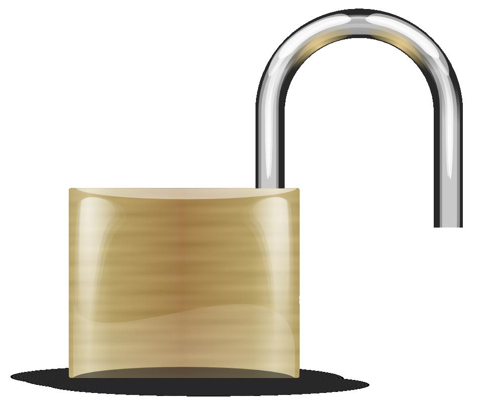 OnlineLabels Clip Art - Lock - Open