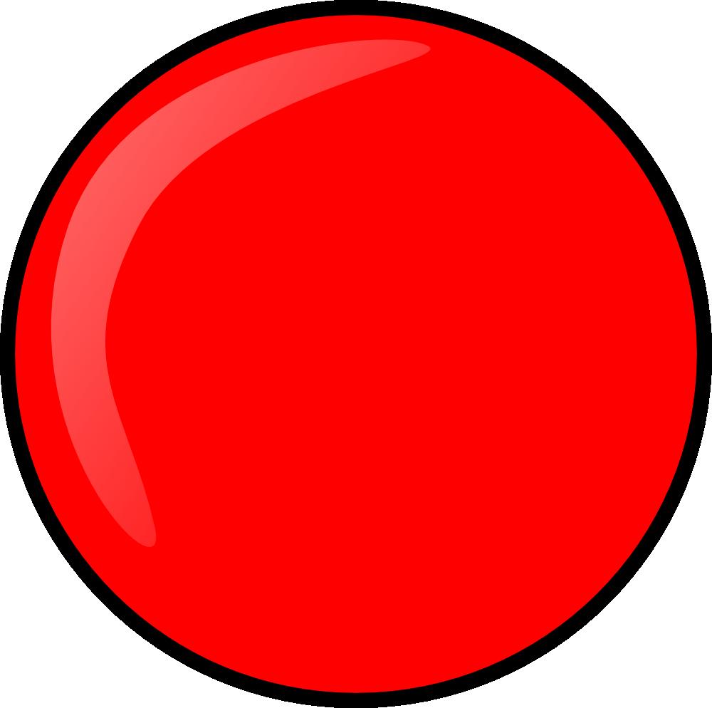 OnlineLabels Clip Art - Red Round Button