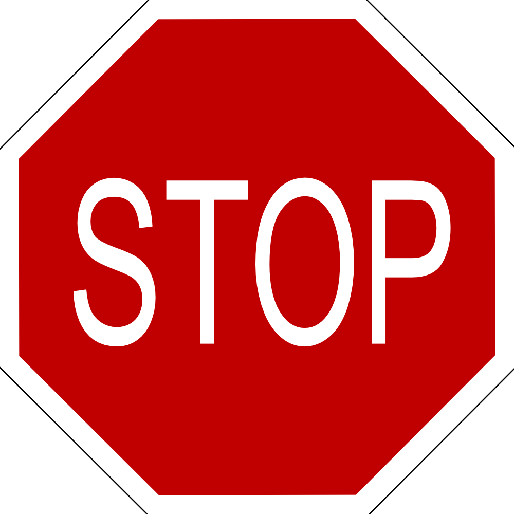 OnlineLabels Clip Art - Stop Sign With Black Border