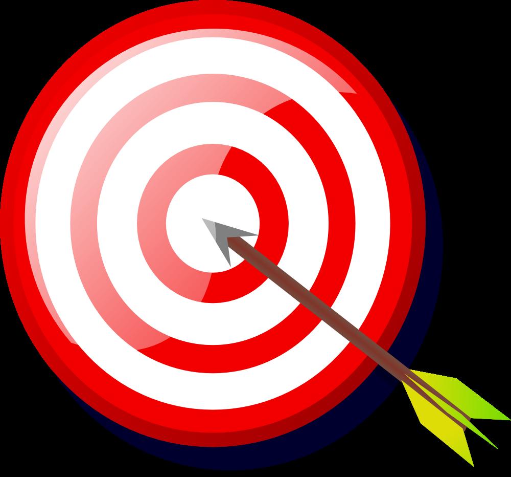 OnlineLabels Clip Art - Target With Arrow