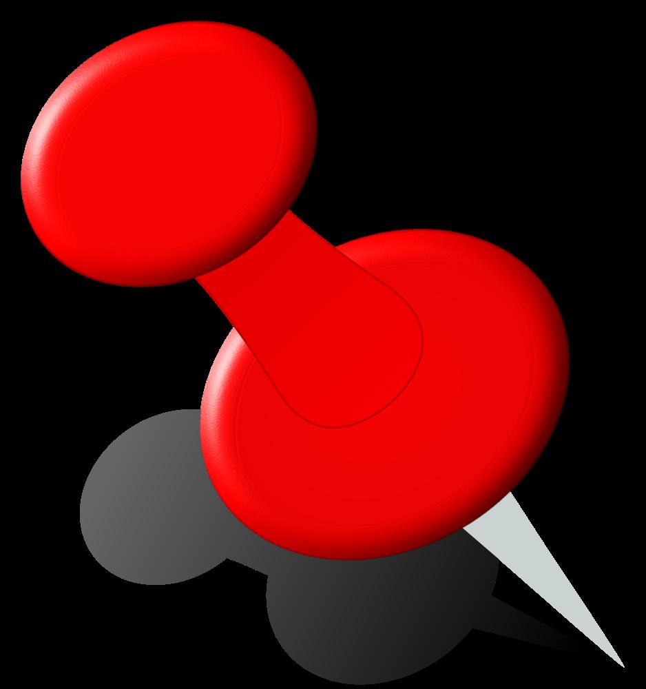 OnlineLabels Clip Art - Push Pin 1