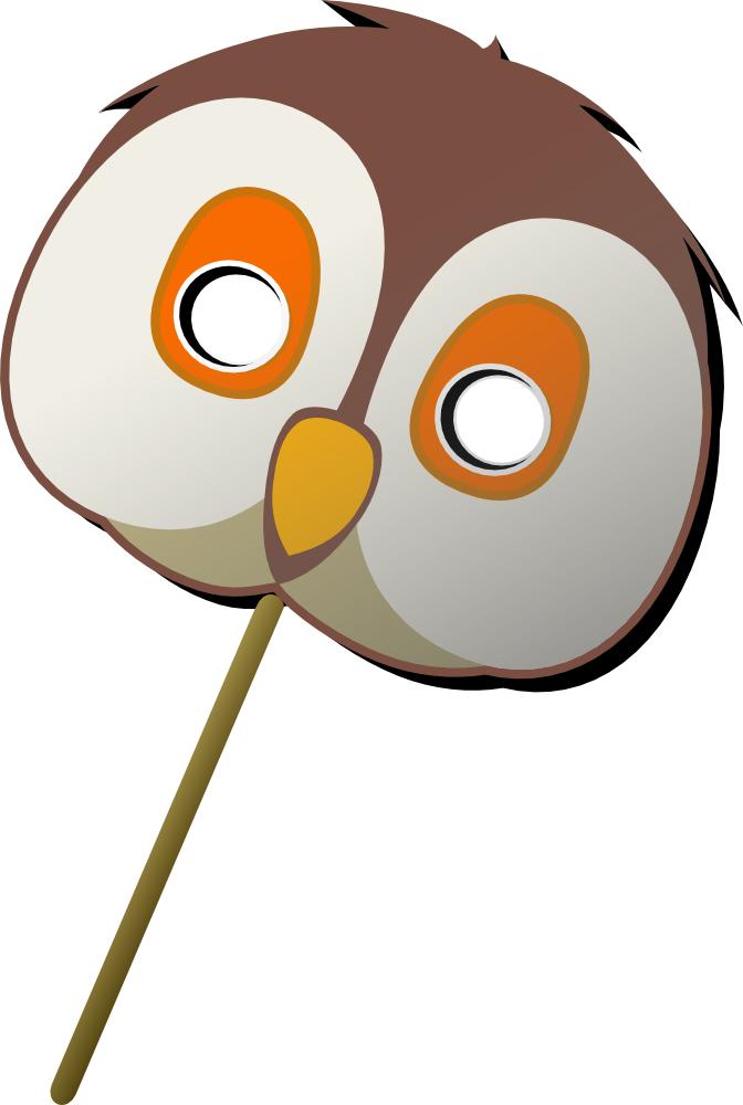 Onlinelabels Clip Art Owl Mask