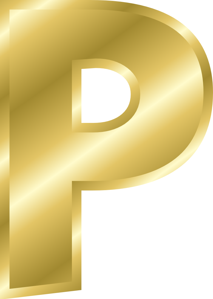 H Letter In Gold OnlineLabels Clip Art ...