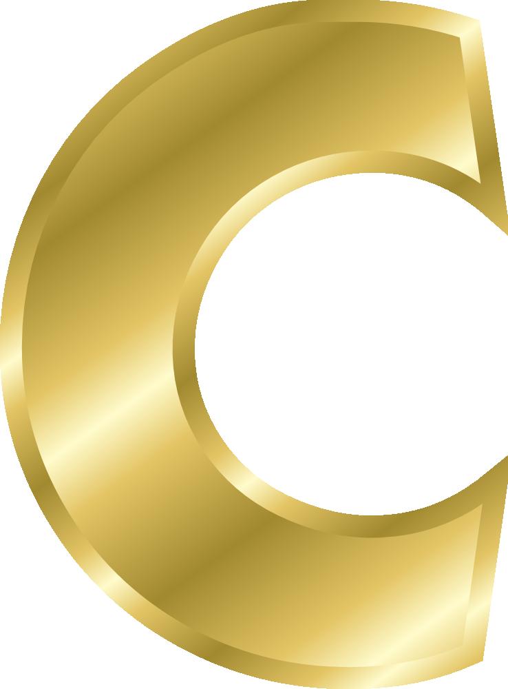 OnlineLabels Clip Art - Effect Letters Alphabet Gold
