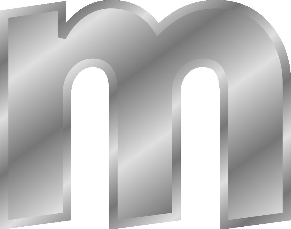 M Letter In Silver OnlineLabels Cl...