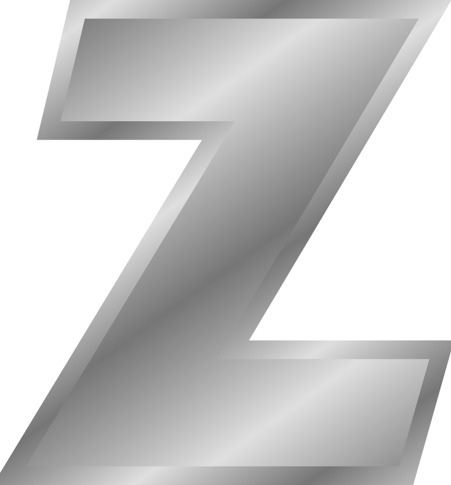 Silver Letter I: Effect Letters Alphabet Silver